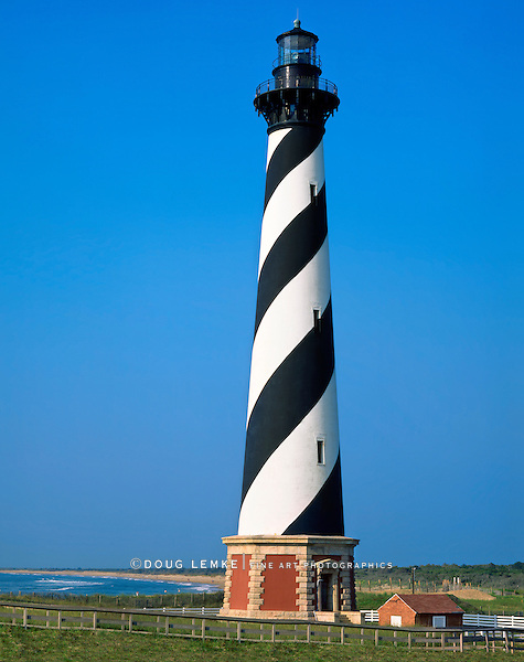 Cape Hatteras Lighthouse, North Carolina, Before It Was Moved