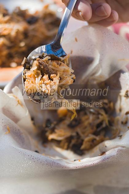 Afrique/Afrique du Nord/Maroc/Rabat: Hotel - Maison d'Hote Villa Mandarine - préparation de la pastilla aux fruits de mer