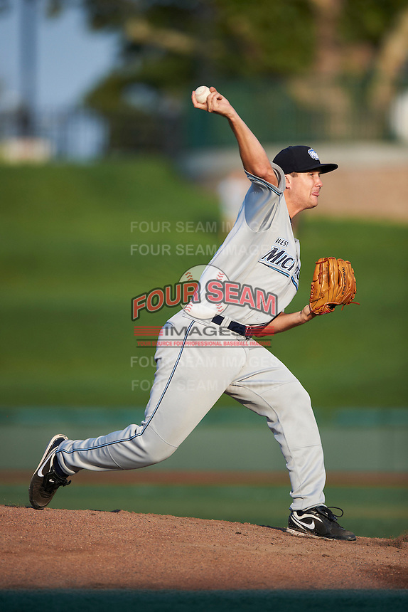 West Michigan Whitecaps pitcher Brennan Smith #23 during a Midwest League game against the South Bend Silver Hawks at Coveleski Stadium on August 15, 2012 in South Bend, Indiana.  West Michigan defeated South bend 7-1.  (Mike Janes/Four Seam Images)