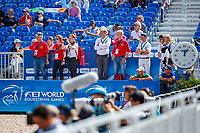 during the Showjumping for the FEI World Team and Individual Eventing Championship. 2018 FEI World Equestrian Games Tryon. Monday 17 September. Copyright Photo: Libby Law Photography