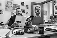 "New York City, USA. February 19th, 1971. Lyle Stuart, editor of ""The Anarchist Cookbook"", written by William Powell."