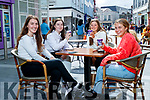 Pictured having coffee outside the Daily Grind, Tralee on Monday were Meave McKivergan, Jade Crean, Ali Crean and Muireann Dillane.