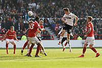 George Byers of Swansea City heads the ball off target during the Sky Bet Championship match between Nottingham Forest and Swansea City at City Ground, Nottingham, England, UK. Saturday 30 March 2019