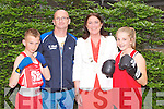 INTERNATIONAL BOXING: Mayor of Tralee Grace O'Donnell at the international boxing tournament at the Carlton hotel, Tralee on Saturday l-r: Timmy Lee (Our Ladies of Lourdes BC), Giles McCool (St Margaret's BC), Mayor of Tralee Grace O'Donnell and Marie McCarthy (St Margaret's BC).