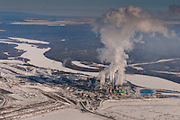 Tar Sands, March 2010. Suncor upgrader. Alberta Athabasca Tar Sands or Oil Sands.