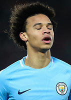 Manchester City's Leroy Sane<br /> <br /> Photographer Alex Dodd/CameraSport<br /> <br /> The Premier League - Liverpool v Manchester City - Sunday 14th January 2018 - Anfield - Liverpool<br /> <br /> World Copyright &copy; 2018 CameraSport. All rights reserved. 43 Linden Ave. Countesthorpe. Leicester. England. LE8 5PG - Tel: +44 (0) 116 277 4147 - admin@camerasport.com - www.camerasport.com