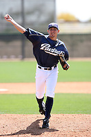 Josh Geer, San Diego Padres 2010 minor league spring training..Photo by:  Bill Mitchell/Four Seam Images.