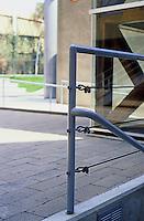 Frank Gehry: Loyola U. Law School. Detail of chapel railing.  Photo '86.