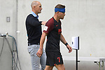 Heiko HERRLICH  (Trainer FC Augsburg) <br />mit Florian NIEDERLECHNER  (FC Augsburg) mit<br />Kopfverband-muss verletzt ausgewechselt werden.<br /><br />Fussball 1. Bundesliga, 33.Spieltag, Fortuna Duesseldorf (D) -  FC Augsburg (A), am 20.06.2020 in Duesseldorf/ Deutschland. <br /><br />Foto: AnkeWaelischmiller/Sven Simon/ Pool/ via Meuter/Nordphoto<br /><br /># Editorial use only #<br /># DFL regulations prohibit any use of photographs as image sequences and/or quasi-video #<br /># National and international news- agencies out #