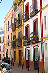 Typical street scene in Seville Spain