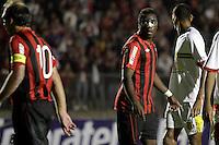 CURITIBA, PR, 15 DE MARÇO 2012 – ATLÉTICO-PR X SAMPAIO CORRÊA-MA - Manoel, do Atlético, durante jogo contra o Sampaio Corrêa válido pela primeira fase da Copa do Brasil. A partida aconteceu na noite de quinta-feira (15), na Vila Capanema, em Curitiba. <br /> (FOTO: ROBERTO DZIURA JR./ BRAZIL PHOTO PRESS)