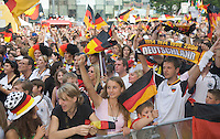 Germany, DEU, Dortmund, 2006-Jun-24: FIFA football world cup (USA: soccer world cup) 2006 in Germany; German football fans in good mood at a public viewing zone during the world cup match Germany vs. Sweden (2:0).