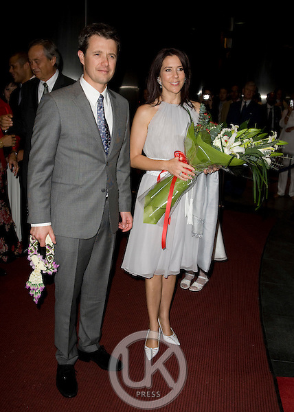 "Crown Prince Frederik & Crown Princess Mary of Denmark, on a Four Day official visit to Thailand,Crown Prince Frederik, and  Crown Princess Mary attend a Dinner at The Centara Grand Hotel, Bangkok, to celebrate "" Danfoss "" 20 years in Thailand"
