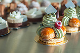 FRANCE, Paris Pistachio and Raspberry Saint-Honoré cake by Mori Yoshida
