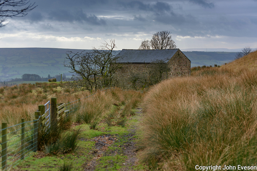 Stone barn next Ward's End, to a public footpath, Chipping, Lancashire.