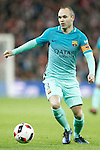 FC Barcelona's Andres Iniesta during Spanish Kings Cup match. January 05,2017. (ALTERPHOTOS/Acero)