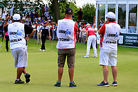 Caddies during the third round of the Lyoness Open powered by Organic+ played at Diamond Country Club, Atzenbrugg, Austria. 8-11 June 2017.<br /> 10/06/2017.<br /> Picture: Golffile | Phil Inglis<br /> <br /> <br /> All photo usage must carry mandatory copyright credit (&copy; Golffile | Phil Inglis)