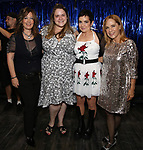 Kathy Valentine, Bonnie Milligan, Jane Wiedlin and Charlotte Caffey during the Broadway Opening Night Performance Actors' Equity Legacy Robe honoring Justin Prescott at the Hudson Theatre on July 26, 2018 in New York City.
