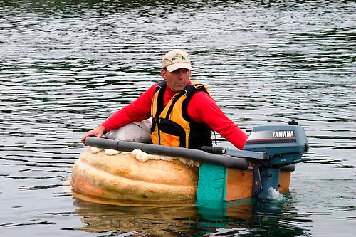 Pumpkin regatta participant, Damariscotta Maine, 2010