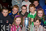 Admiring the Heineken cup in Kate Kearney's Cottage, Beaufort on Friday evening was Munster fans front l-r: Aisling Coffey, Sarah Sheehan. Back row: Michael Healy, Brian Coffey, Daniel O'Shea, Daniel Sheahan and Danielle Garland.