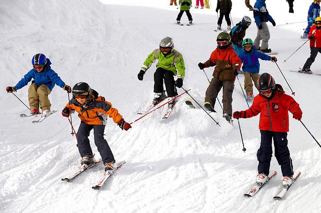 Children Skiing - Insbruck - Austrian Tyrol