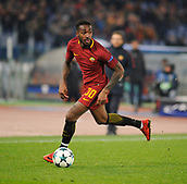 5th December 2017, Stadio Olimpic, Rome, Italy; UEFA Champions league football, AS Roma versus Qarabağ FK; Gerson in action