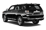 Car pictures of rear three quarter view of a 2015 Toyota 4Runner Limited 5 Door SUV angular rear