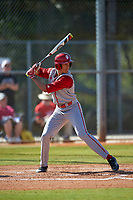 Indiana Hoosiers third baseman Isaiah Pasteur (6) at bat during a game against the Illinois State Redbirds on March 4, 2016 at North Charlotte Regional Park in Port Charlotte, Florida.  Indiana defeated Illinois State 14-1.  (Mike Janes/Four Seam Images)