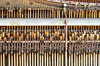 Piano, strings, hammers