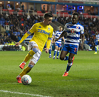 Leeds United's Patrick Bamford (left) under pressure from Reading's Andy Yiadom (right) <br /> <br /> Photographer David Horton/CameraSport<br /> <br /> The EFL Sky Bet Championship - Reading v Leeds United - Tuesday 12th March 2019 - Madejski Stadium - Reading<br /> <br /> World Copyright © 2019 CameraSport. All rights reserved. 43 Linden Ave. Countesthorpe. Leicester. England. LE8 5PG - Tel: +44 (0) 116 277 4147 - admin@camerasport.com - www.camerasport.com