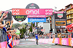 Maximilian Schachmann (GER) Quick-Step Floors wins Stage 18 of the 2018 Giro d'Italia, running 196km from Abbiategrasso to Prato Nevoso, Italy. 24th May 2018.<br /> Picture: LaPresse/Gian Mattia D'Alberto | Cyclefile<br /> <br /> <br /> All photos usage must carry mandatory copyright credit (&copy; Cyclefile | LaPresse/Gian Mattia D'Alberto)