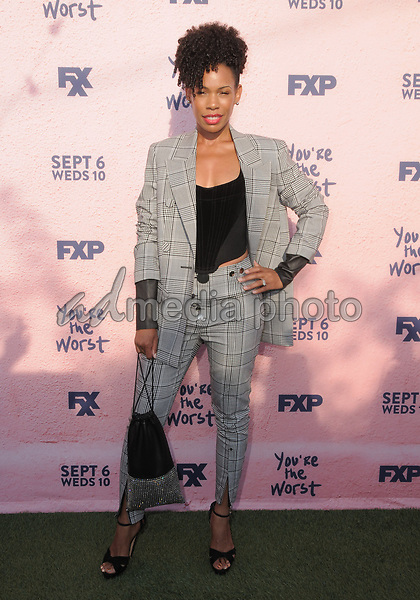 "29 August  2017 - Los Angeles, California - Angela Lewis. FXX's ""You're the Worst"" Season Four Premiere held at Museum of Ice Cream in Los Angeles. Photo Credit: Birdie Thompson/AdMedia"