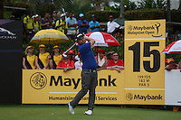 Having almost squared the hit and miss front nine Andy Sullivan (ENG) dropped 5 shots on the back nine to finish T13 during the Final Round of the 2014 Maybank Malaysian Open at the Kuala Lumpur Golf & Country Club, Kuala Lumpur, Malaysia. Picture:  David Lloyd / www.golffile.ie