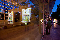 Una speciale illuminazione a colori &egrave; stata proiettata nel monumento dell'Ara Pacis in occasione delle celebrazioni a 2000 anni dalla morte dell'Imperatore Augusto. <br /> The digital light show at the Ara Pacis Augustae (Latin for Altar of Augustan peace), the monument dedicated to Roman emperor Augustus. The show was part of a series of events scheduled to celebrate the 2,000 anniversary of the ancient statesman.<br /> The colours projected onto the monument were chosen after a thorough research into Roman and Pompeian painting techniques with the aim of reproducing tones similar to the ones which originally adorned the Ara Pacis.