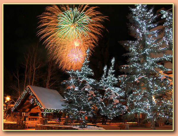 Photoshop. Fireworks and some trees added.<br />