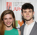 Molly Griggs and Charlie Stemp backstage at The Fourth Annual High School Theatre Festival at The Shubert Theatre on March 19, 2018 in New York City.