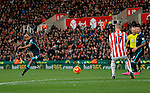 Fabian Delph has a shot at goal for Manchester City - Football - Barclays Premier League - Stoke City vs Manchester City - Britannia Stadium Stoke - December 5th 2015 - Season 2015/2016 - Photo Malcolm Couzens/Sportimage