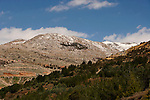 The Golan Heights. A view from Nimrod of Mount Hermon