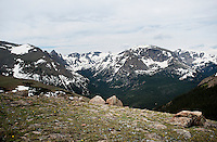 A view from the Ute Trail off Trail Ridge Road in Rocky Mountain National Park, in Colorado, Saturday, July 2, 2011. The elevation at the Ute Trail is 11466 feet...Photo by Matt Nager