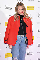 LONDON, UK. November 22, 2016: Poppy Jamie at The Design Museum VIP launch party in Kensington, London.<br /> Picture: Steve Vas/Featureflash/SilverHub 0208 004 5359/ 07711 972644 Editors@silverhubmedia.com