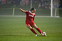 Kansas City, MO - Saturday May 27, 2017: Shelina Zadorsky during a regular season National Women's Soccer League (NWSL) match between FC Kansas City and the Washington Spirit at Children's Mercy Victory Field.