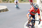 Vincenzo Nibali (ITA) Bahrain-Merida during Stage 5 of the La Vuelta 2018, running 188.7km from Granada to Roquetas del Mar, Andalucia, Spain. 29th August 2018.<br /> Picture: Unipublic/Photogomezsport | Cyclefile<br /> <br /> <br /> All photos usage must carry mandatory copyright credit (&copy; Cyclefile | Unipublic/Photogomezsport)