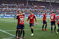 Roberto Torres (midfield; CA Osasuna) celebrates the goal  during the Spanish football of La Liga 123, match between CA Osasuna and  RCD Mallorca at the Sadar stadium, in Pamplona (Navarra), Spain, on Sunday, January 20, 2019.