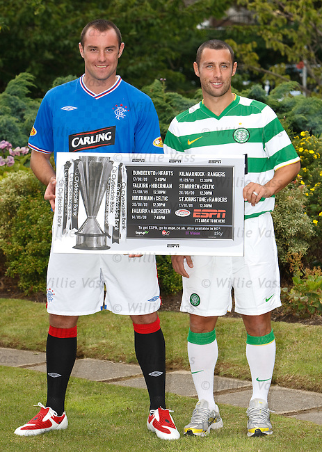 Kris Boyd and Scott McDonald with ESPN's Scottish football line up for the start of season 2009-10