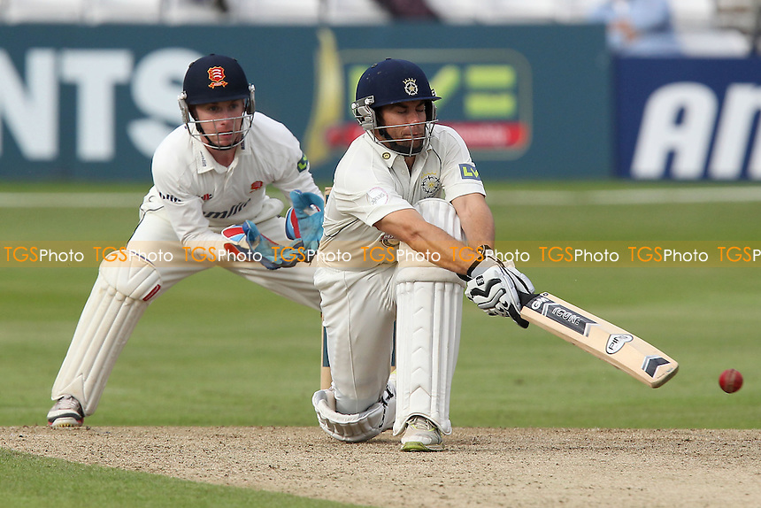 Neil McKenzie in batting action for Hampshire as Adam Wheater looks on - Essex CCC vs  Hampshire CCC - LV County Championship Division Two Cricket at the Ford County Ground, Chelmsford, Essex - 19/07/12 - MANDATORY CREDIT: Gavin Ellis/TGSPHOTO - Self billing applies where appropriate - 0845 094 6026 - contact@tgsphoto.co.uk - NO UNPAID USE.