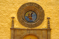 Entrance to the Templo de San Gabrial in the Ex-Convento de San Gabriel, Cholula, Puebla, Mexico. Cholula is a UNESCO World Heritage Site.