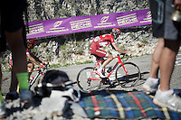 Ilnur Zakarin (RUS/Katusha) up the Lacets du Grand Colombier (Cat1/891m/8.4km/7.6%)<br /> <br /> stage 15: Bourg-en-Bresse to Culoz (160km)<br /> 103rd Tour de France 2016