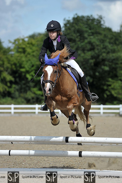 Class 4. 65cm. Unaffiliated showjumping. Brook Farm Training Centre. Essex. 06/08/2017. MANDATORY Credit Garry Bowden/Sportinpictures - NO UNAUTHORISED USE - 07837 394578