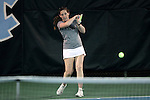 21 February 2017: ASU's Megan Mullen. The University of North Carolina Tar Heels hosted the Appalachian State University Mountaineers at the Cone-Kenfield Tennis Center in Chapel Hill, North Carolina in a Women's College Tennis match. North Carolina won the match 6-1.