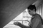 Autistic client Miguel Rodruiguez-Ruiz (13) participates in the Free2BMe Program at the Steward Centre, on Monday, March 7, 2016.